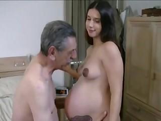 Беременная жена подставляет манду мужу в разных позах