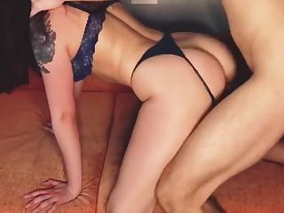Красивый домашний секс под клубную музыку, русская пара на релаксе!
